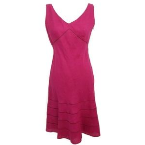 Ann Taylor 4 Four 100% Linen Dress Magenta